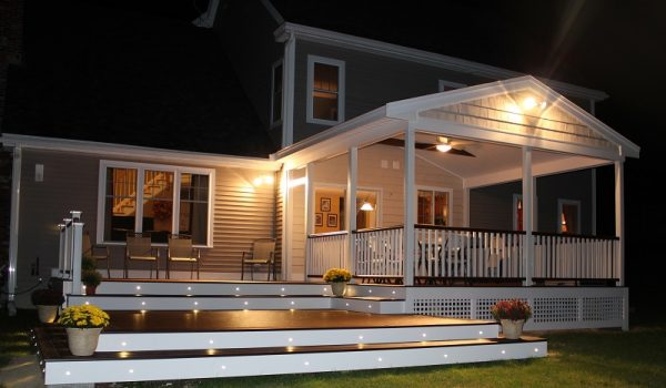 Covered Deck At Night