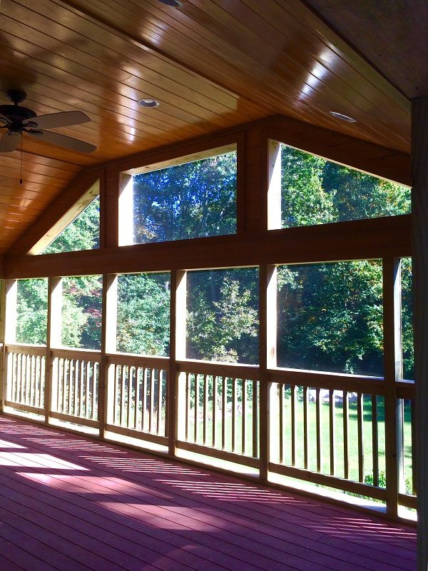 Inside View of Covered Porch